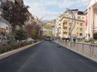 Bulvar caddesi sıcak asfaltla kaplandı