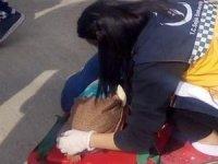 Otobüsü petrol istasyonuna daldı: 10 yaralı