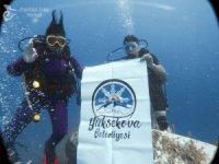 Akdeniz'de Yüksekova pankartı açıldı