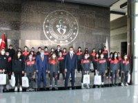 Kasapoğlu, Belediyesporlu futbolcuları kabul etti