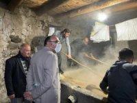 400 yıllık taş değirmende tahin üretimi başlandı