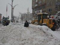 Hakkari belediyesi karla mücadele başlattı