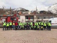 Şemdinli'de yangın ve deprem tatbikatı